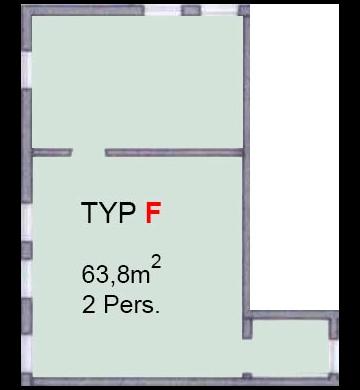 Grundrisse und Preise der Wohnungen - Typ F